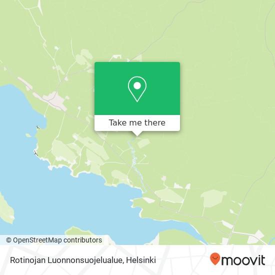 Rotinojan Luonnonsuojelualue karta