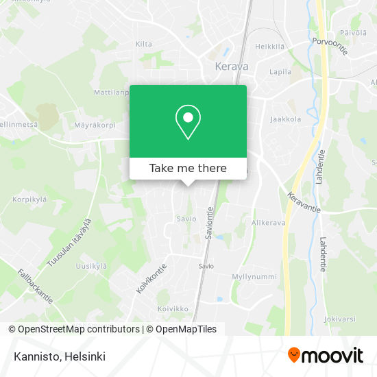Карта Kannisto