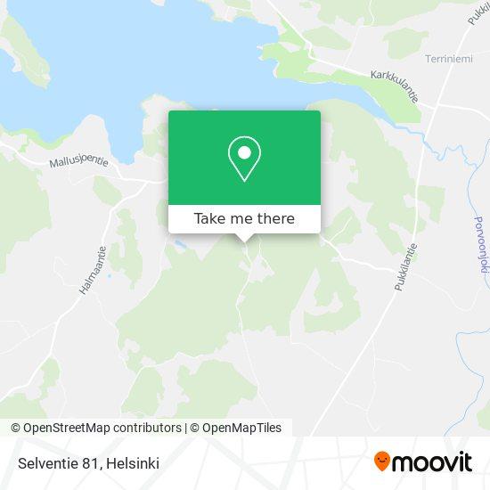 Карта Selventie 81