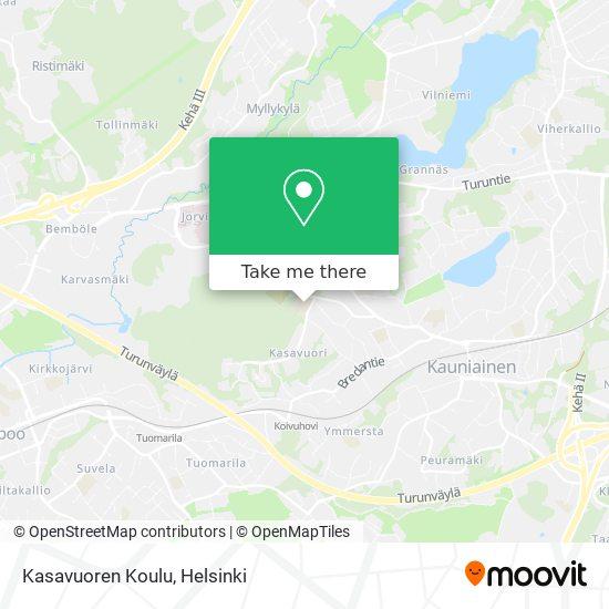 Kasavuoren Koulu map
