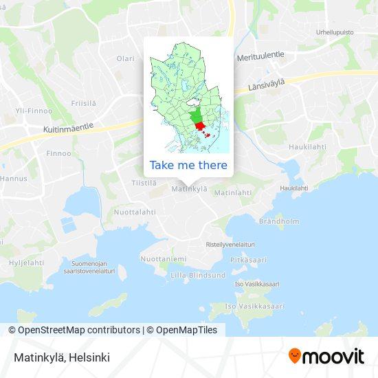 Карта Matinkylä