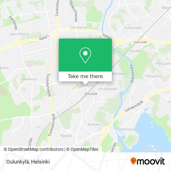 Oulunkylä map