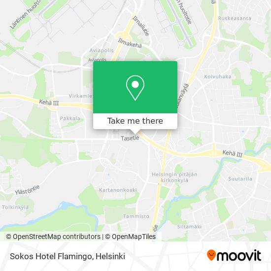 Sokos Hotel Flamingo map