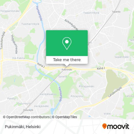 Pukinmäki map