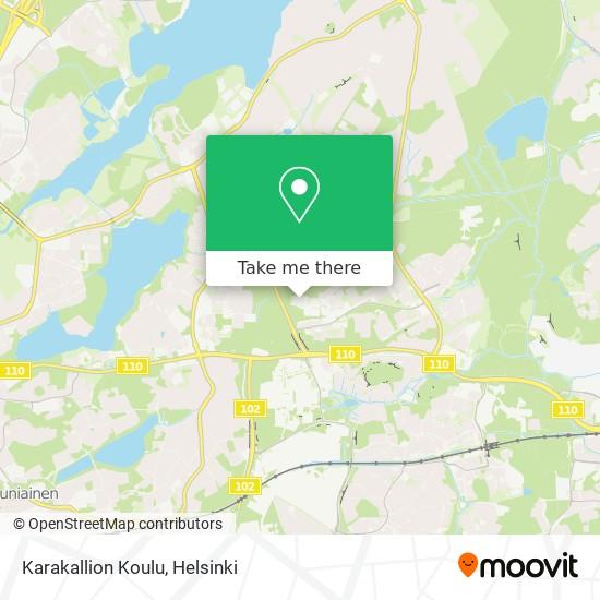 Karakallion Koulu map