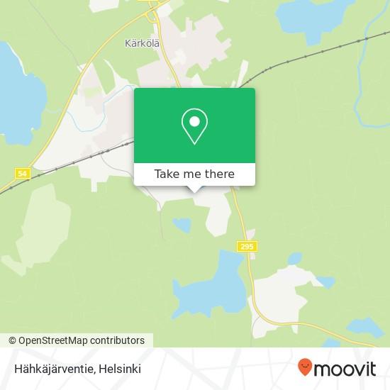 Hähkäjärventie map