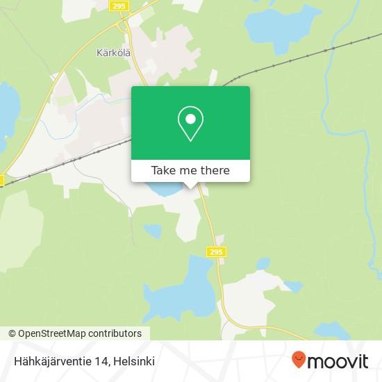 Hähkäjärventie 14 map