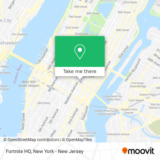 Fortnite Map Bus Path How To Get To Fortnite Hq In Manhattan By Bus Subway Or Train Moovit