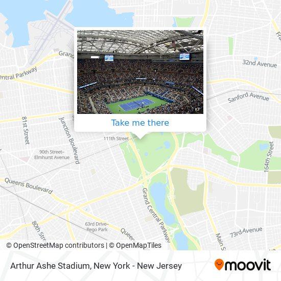 Arthur Ashe Stadium map