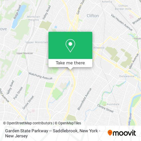 Garden State Parkway -- Saddlebrook map