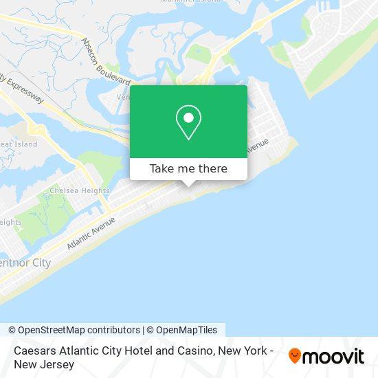 Caesars Atlantic City Hotel and Casino map