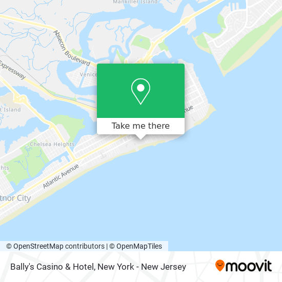 Bally's Casino & Hotel map