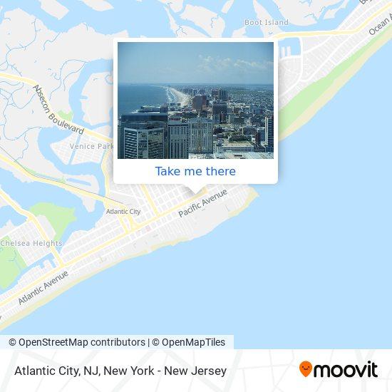 Atlantic City, NJ map