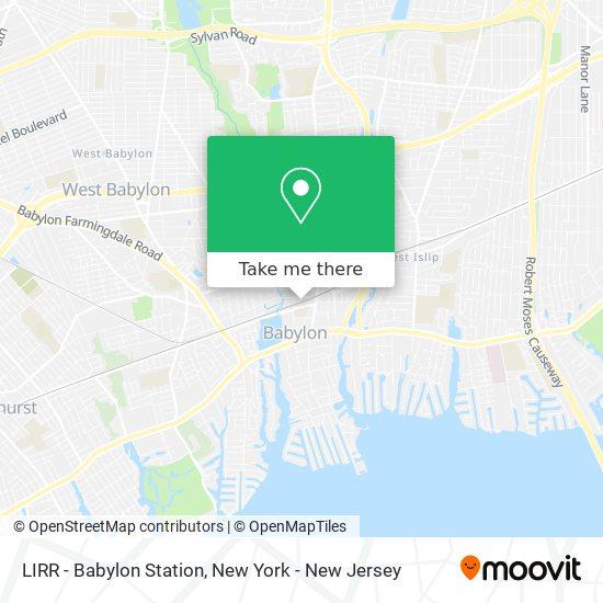 LIRR - Babylon Station map