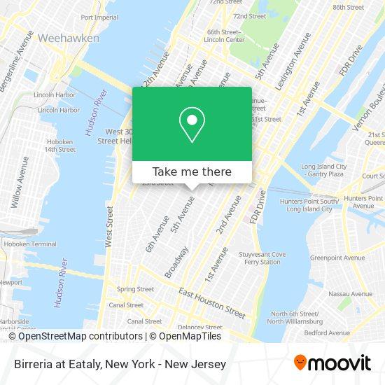 Birreria at Eataly map