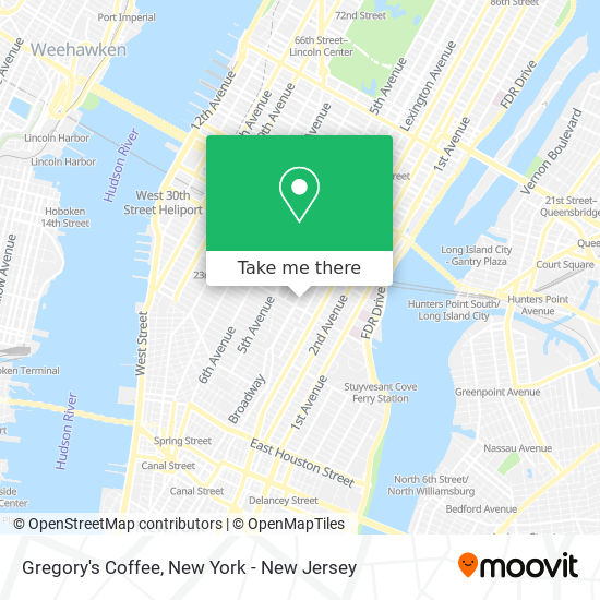 Gregory's Coffee map