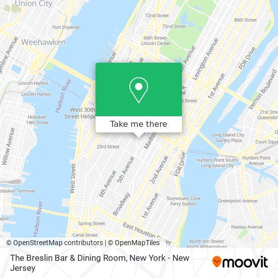 The Breslin Bar & Dining Room map