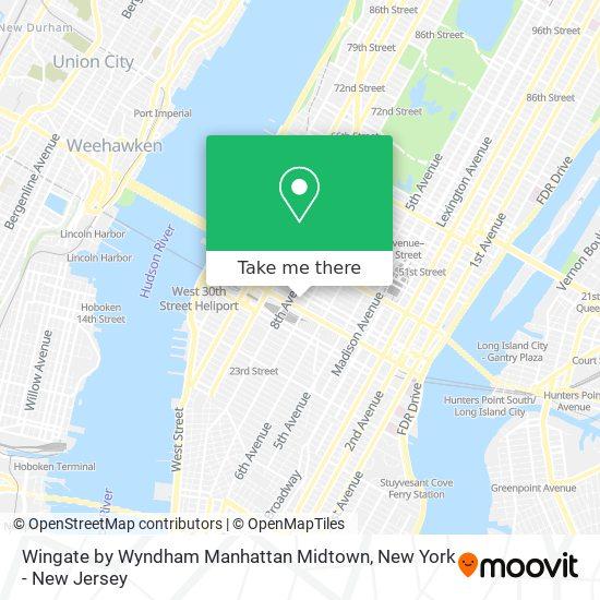 Wingate by Wyndham Manhattan Midtown map