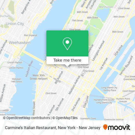 Carmine's Italian Restaurant map