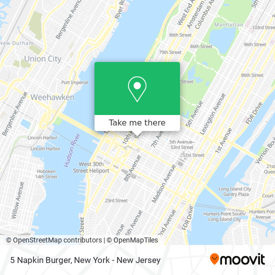 5 Napkin Burger map