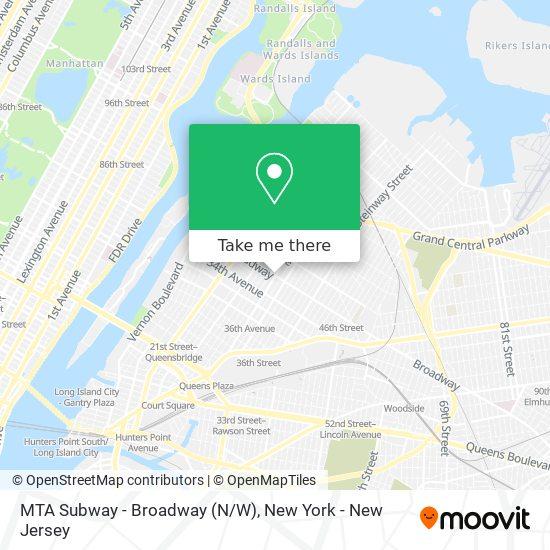 MTA Subway - Broadway (N/W) map
