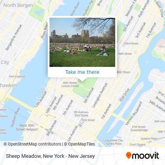 Sheep Meadow map