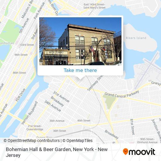 Bohemian Hall & Beer Garden map