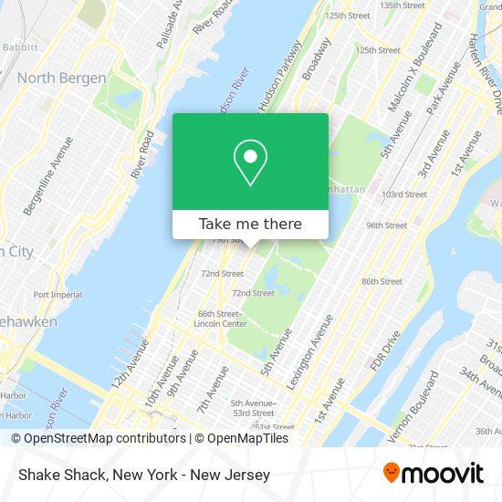Shake Shack map