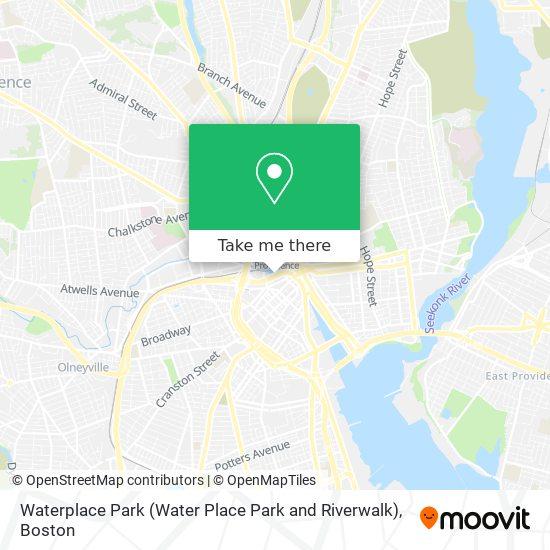 Mapa de Waterplace Park (Water Place Park and Riverwalk)