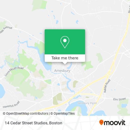 Mapa de 14 Cedar Street Studios
