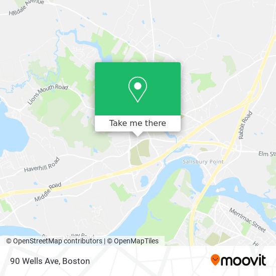 Mapa de 90 Wells Ave