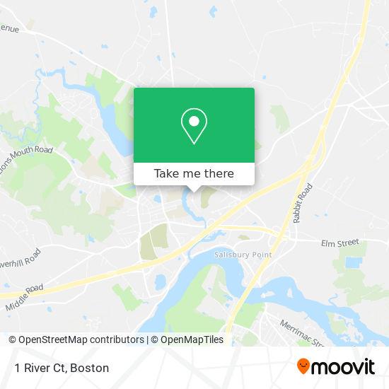 Mapa de 1 River Ct