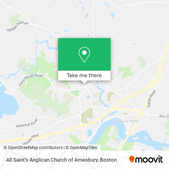 Mapa de All Saint's Anglican Church of Amesbury