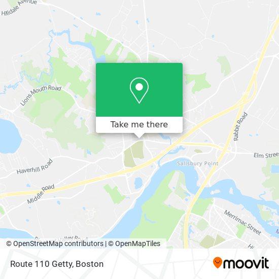 Mapa de Route 110 Getty