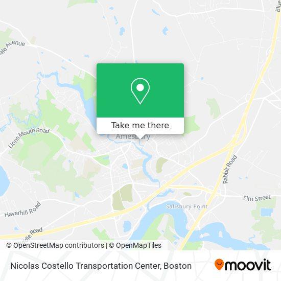 Mapa de Nicolas Costello Transportation Center