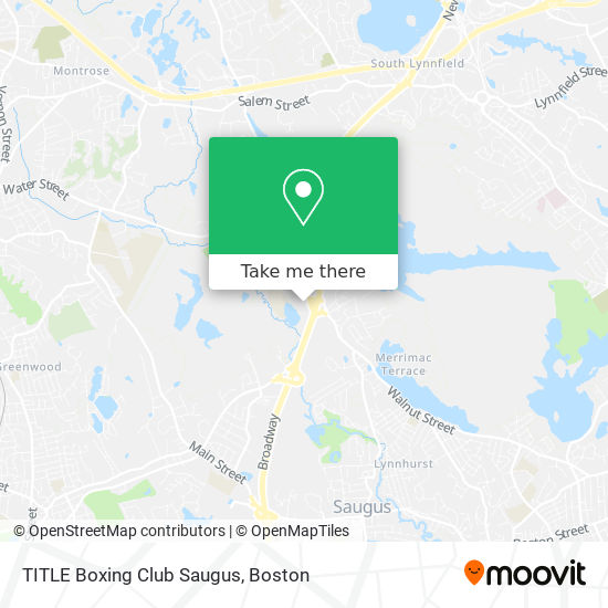 Mapa de TITLE Boxing Club Saugus