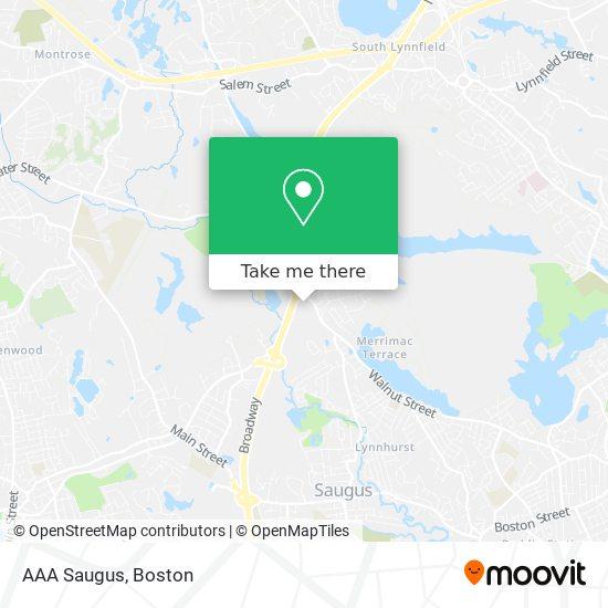 Mapa de AAA Saugus