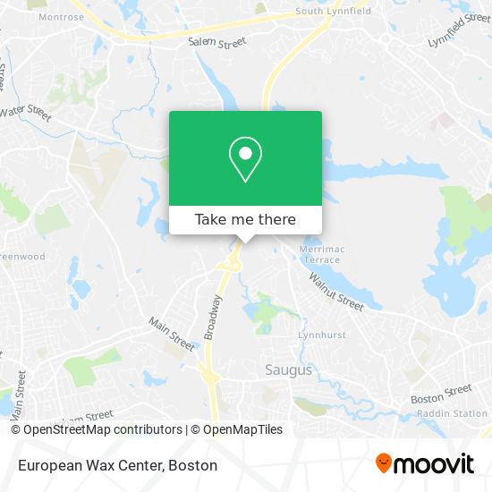 Mapa de European Wax Center