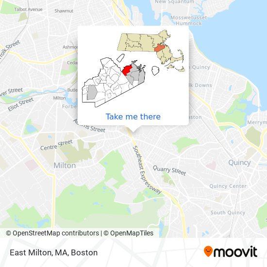 Mapa de East Milton, MA