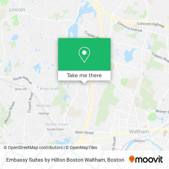 Mapa de Embassy Suites by Hilton Boston Waltham