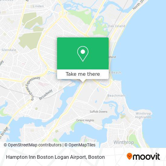 Mapa de Hampton Inn Boston Logan Airport