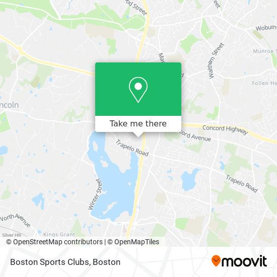 Mapa de Boston Sports Clubs
