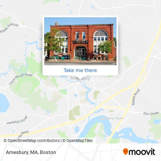 Amesbury, MA mapa
