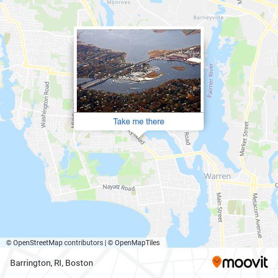 Mapa de Barrington, RI
