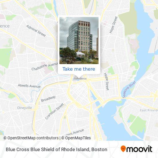 Mapa de Blue Cross Blue Shield of Rhode Island