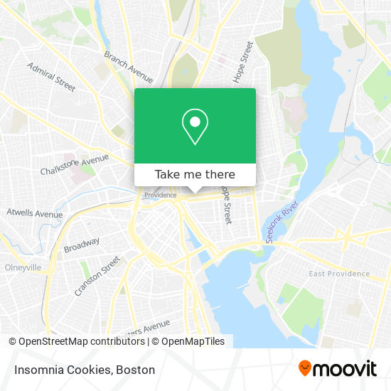 Mapa de Insomnia Cookies