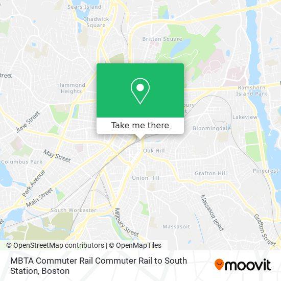 Mapa de MBTA Commuter Rail Commuter Rail to South Station