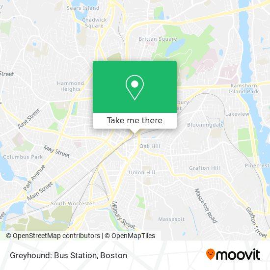 Mapa de Greyhound: Bus Station