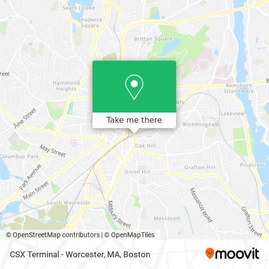 Mapa de CSX Terminal - Worcester, MA