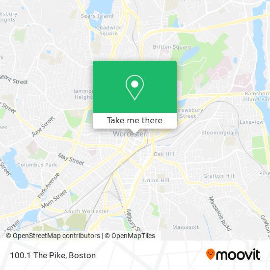 Mapa de 100.1 The Pike